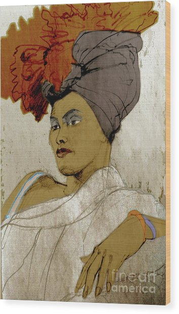 Portrait Of A Caribbean Beauty Wood Print