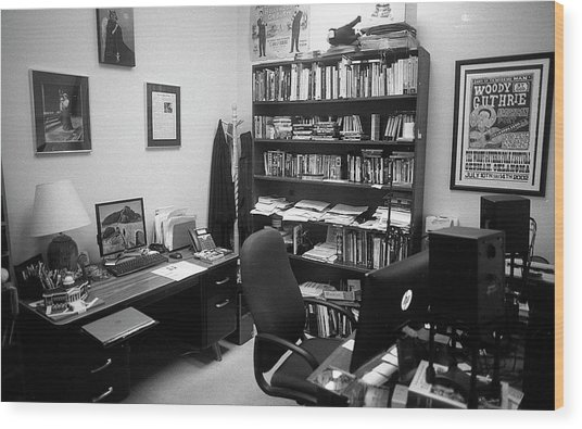 Portrait Of A Film/tv Professor's Office Wood Print