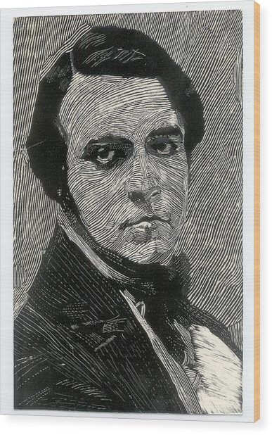 Portrait Of A Man Wood Print by Robert Bissett