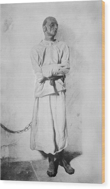 Portrait Of A Mentally Insane Man Wood Print by Everett