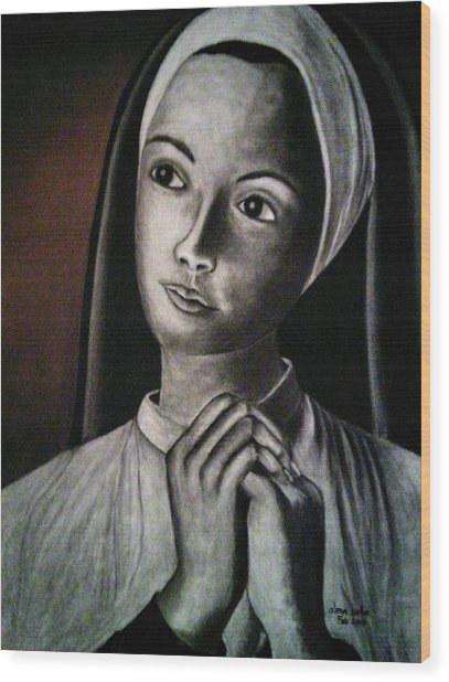 Portrait Of A Nun Wood Print