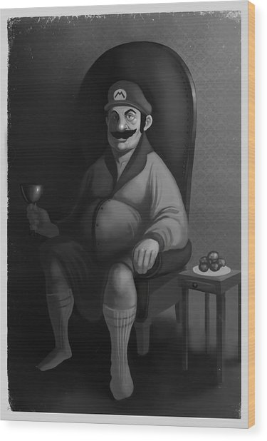 Portrait Of A Plumber Wood Print