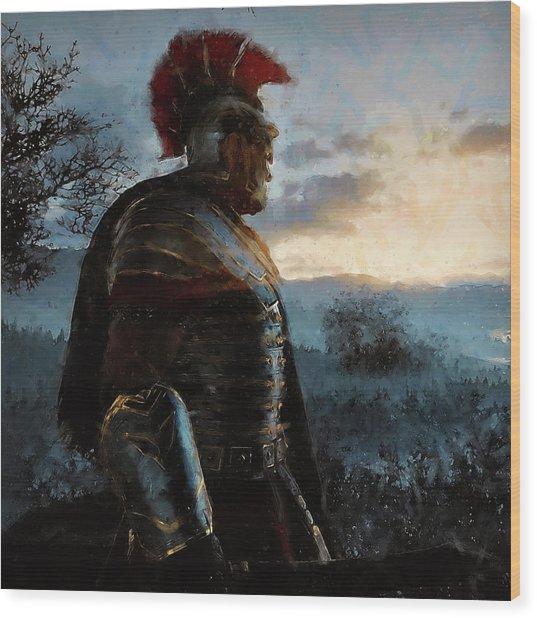 Portrait Of A Roman Legionary - 34 Wood Print