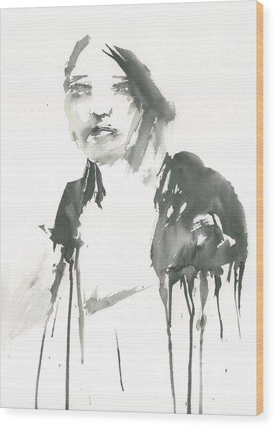 Portrait Of A Singer Wood Print