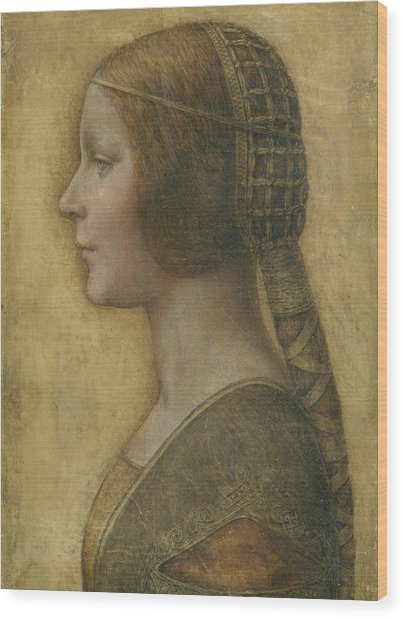 Portrait Of A Young Fiancee Wood Print