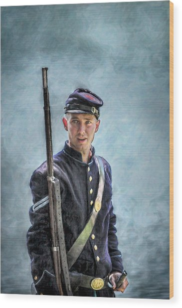 Portrait Of A Young Union Civil War Soldier Digital Art By