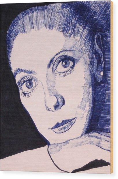 Portrait Of Catherine Wood Print