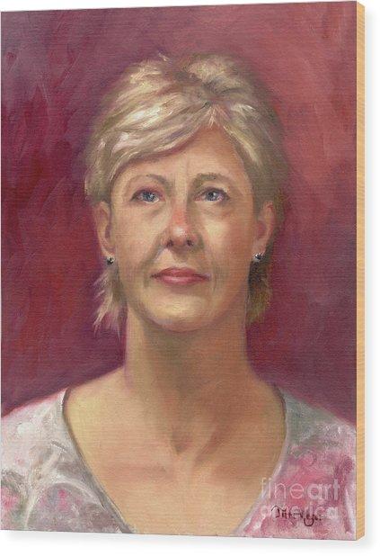 Portrait Of Cheryl Wood Print by Terri  Meyer