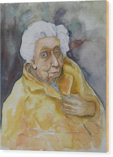 Portrait Of Eudora Welty   Wood Print by Dan Earle