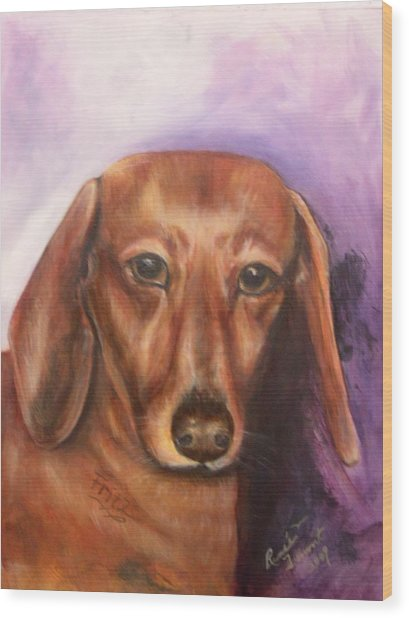 Portrait Of Fritz - Commissions Accepted Wood Print by Renee Dumont  Museum Quality Oil Paintings  Dumont