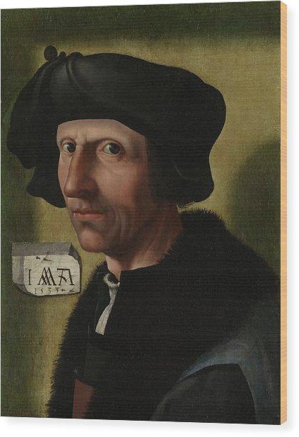 Portrait Of Jacob Cornelisz Van Oostsanen Wood Print