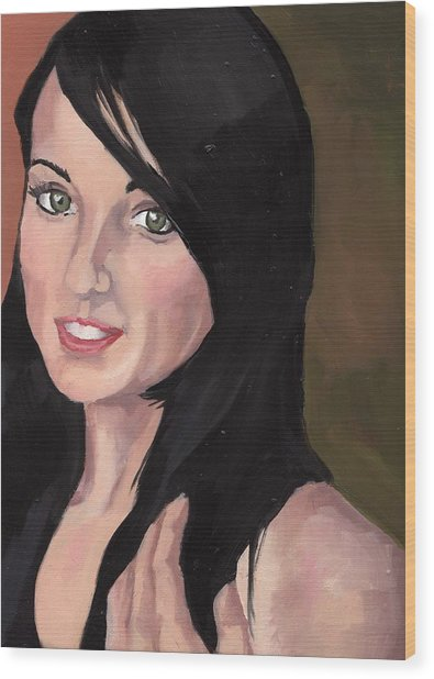 Portrait Of Jessa Wood Print
