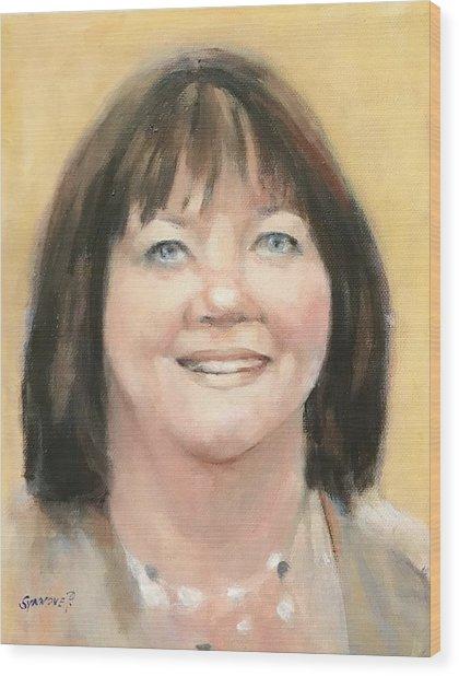 Portrait Of Joann Wood Print