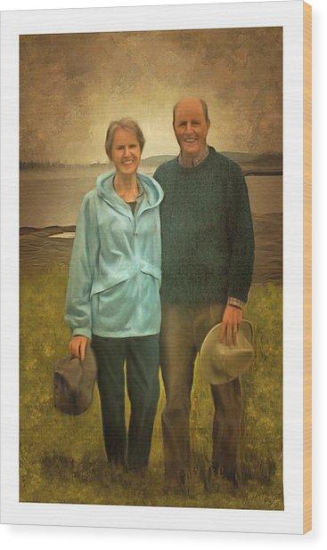 Portrait Of Joe And Denise Wood Print