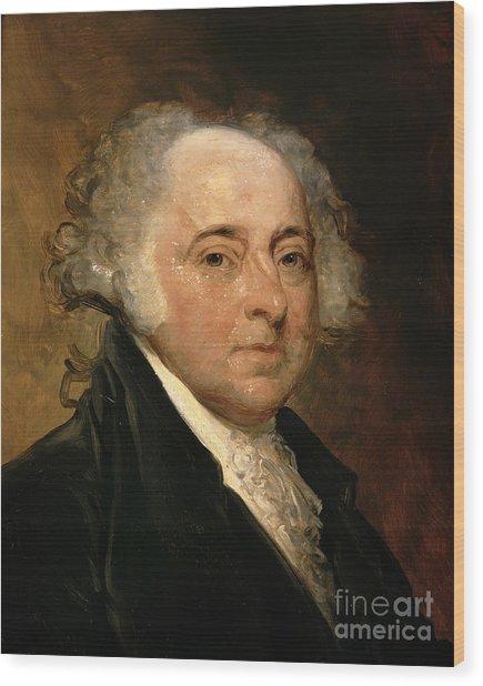 Portrait Of John Adams Wood Print