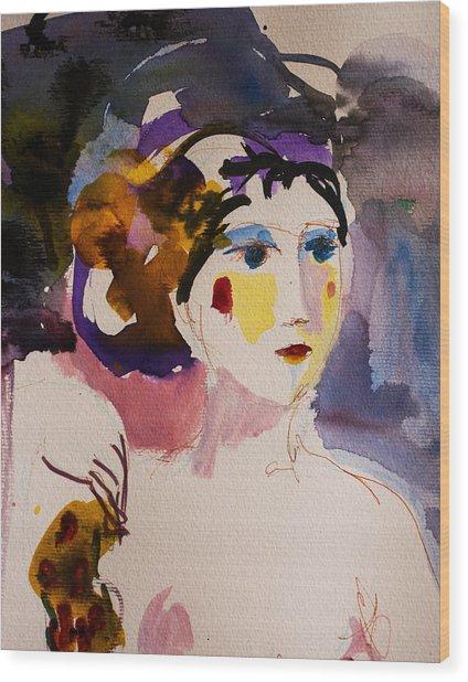 Portrait Of Joy Wood Print