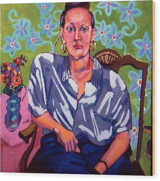 Portrait Of Karen Wood Print