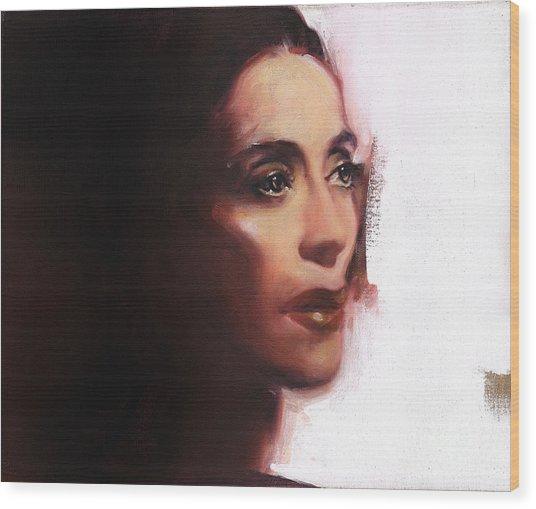 Portrait Of Martha Graham Wood Print