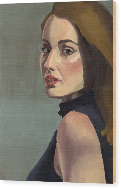 Portrait Of Rachel Christine Wood Print