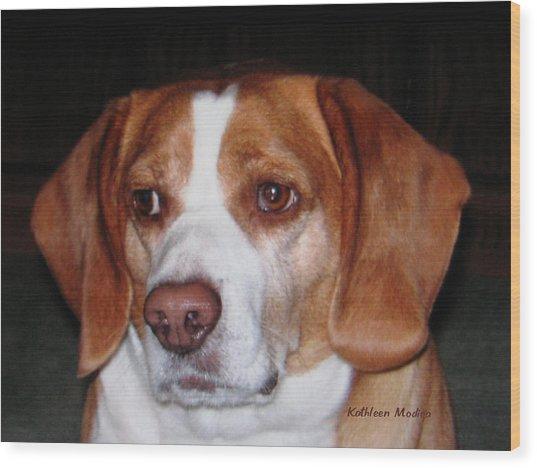 Portrait Of Rusty Wood Print
