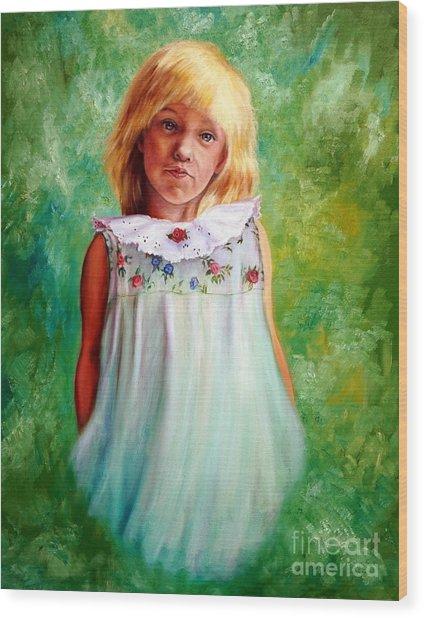 Portrait Of Sara Wood Print