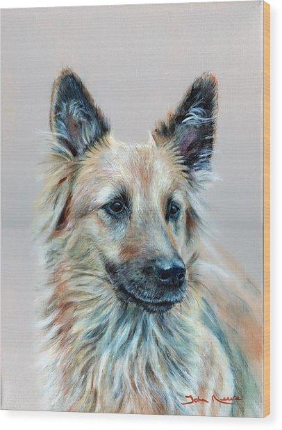 Portrait Of Sasha Wood Print