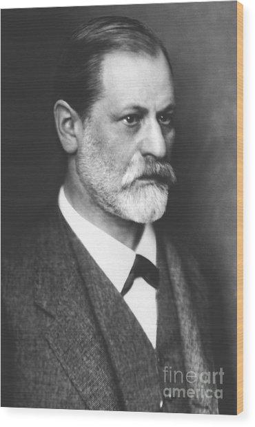 Portrait Of Sigmund Freud Circa 1900  Wood Print