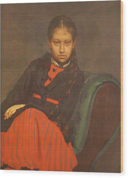 Portrait Of Vera Shevtsova Wood Print by Ilya Repin