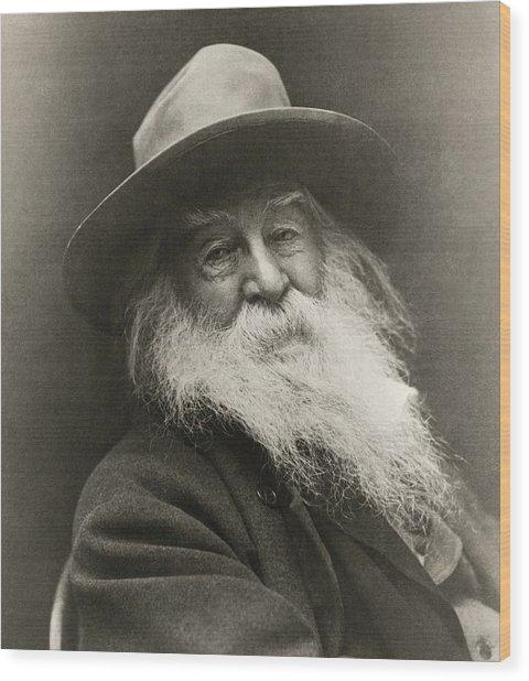 Portrait Of Walt Whitman Wood Print