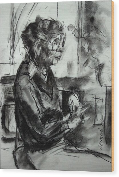 Portrait Sketch Of Euphemia Mcnaught Wood Print
