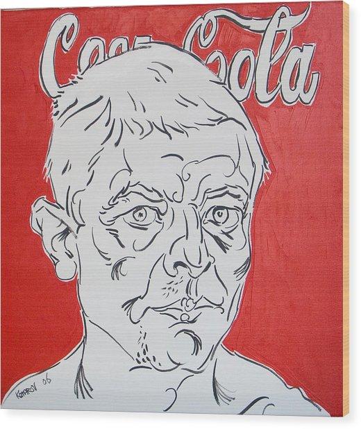 Portrait With Coca Cola Wood Print by Vitali Komarov