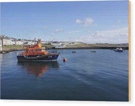 Portrush Rnli Lifeboat Wood Print