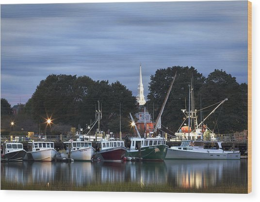 Portsmouth Fish Pier Wood Print
