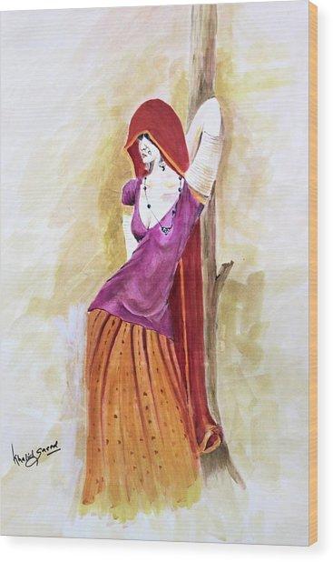 Pose Wood Print