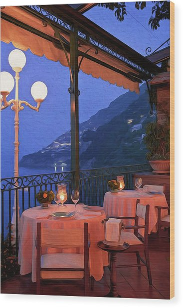 Positano, Beauty Of Italy - 05 Wood Print