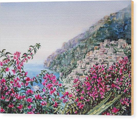 Positano Italy Wood Print