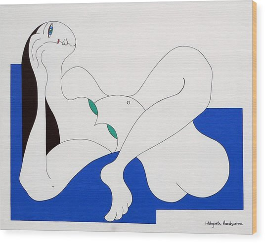 Position Women  Wood Print by Hildegarde Handsaeme