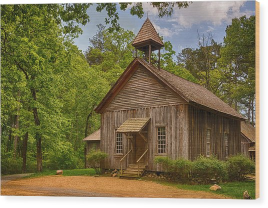 Possum Trot Church Wood Print