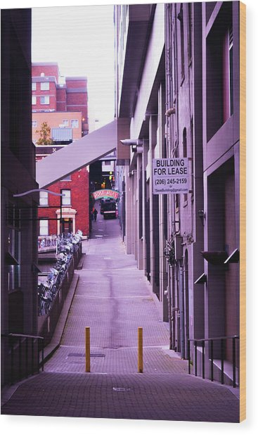 Post Alley, Seattle Wood Print