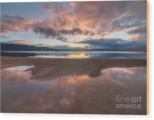 Wood Print featuring the photograph Post Storm Sunset by Spencer Baugh