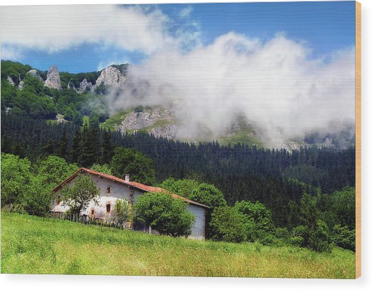 Postcard From Basque Country Wood Print