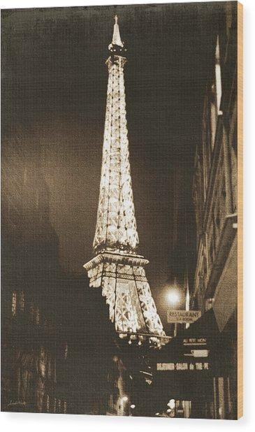 Postcard From Paris- Art By Linda Woods Wood Print