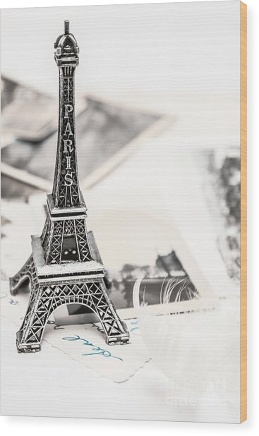 Postcards And Letters From Paris Wood Print