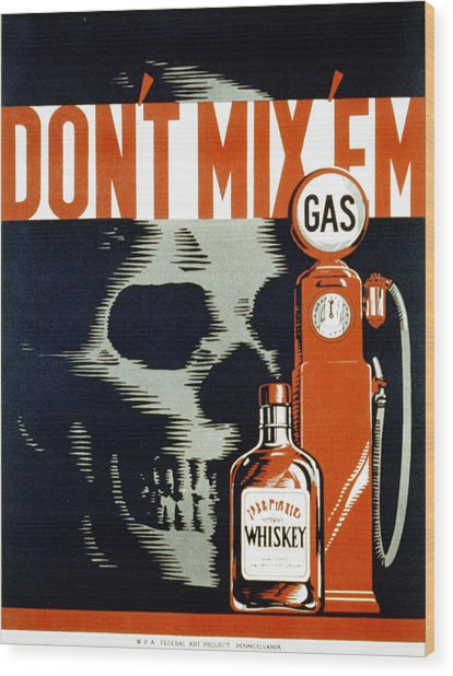 Poster Showing Whiskey Bottle Gas Photograph By Everett