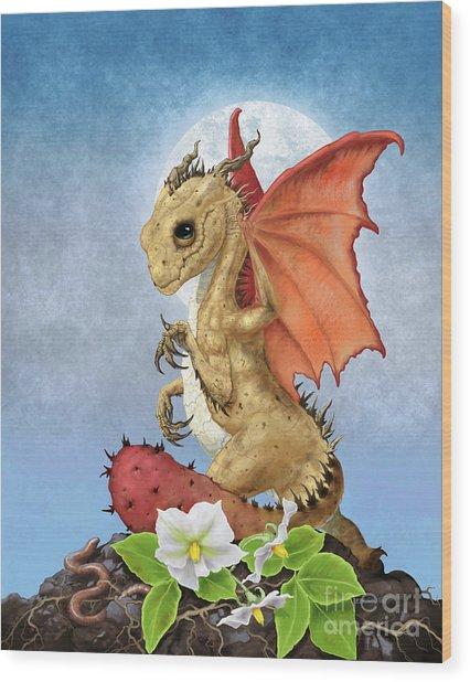 Potato Dragon Wood Print