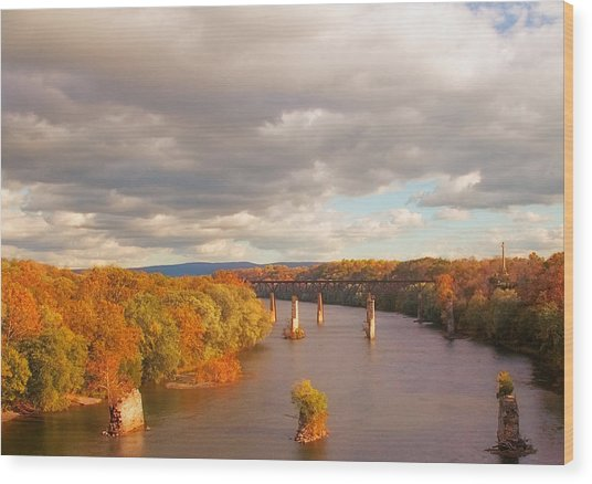 Potomac River Wood Print