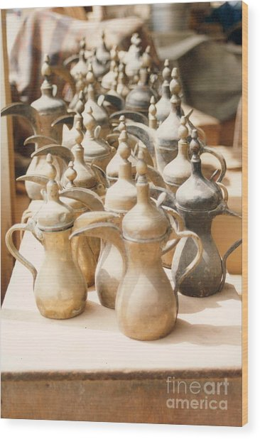 Pots For Sale Wood Print