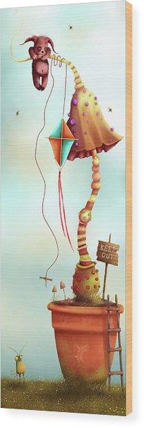 Trolls And Ladders.  Wood Print