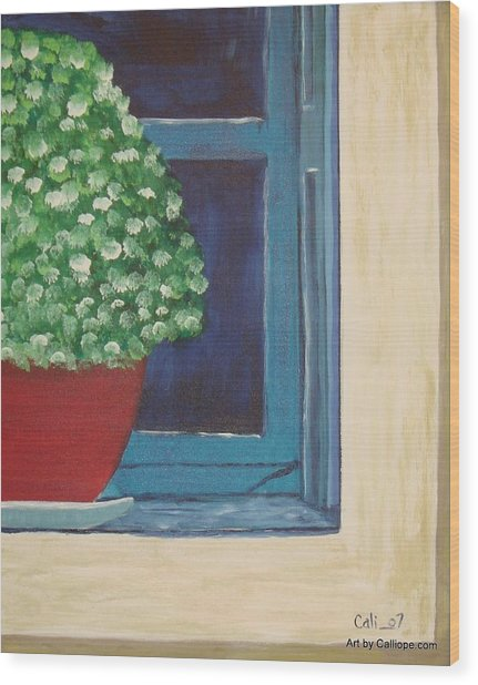 Potted Plant Wood Print