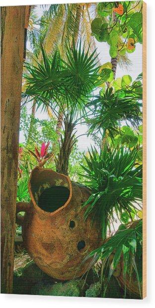 Pottery Ambergris Caye Belize Wood Print